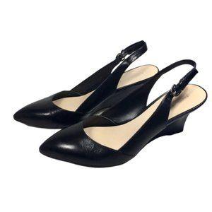 Franco Sarto | Black Slingback Wedge Pumps Heels